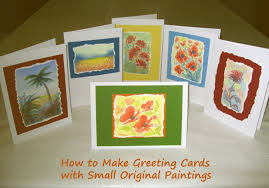 how to create greeting cards with original paintings holidappy