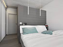 Bedrooms In Grey And White Architecture Twin Small Pendant Lamps Can Be Reading Lamps In