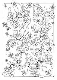 coloring butterflies digi stamps butterfly