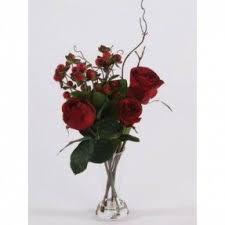 Red Flowers In A Vase Silk Flowers In Vase Foter