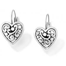 heart ear rings images Contempo contempo heart leverback earrings earrings jpg