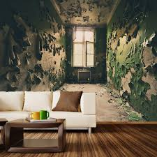 Fabric Wall Murals by Abandoned Room Wall Mural Decal 100
