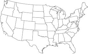 Map Of The Usa With States by Outline Map Usa With State Borders Enchantedlearningcom Map Of