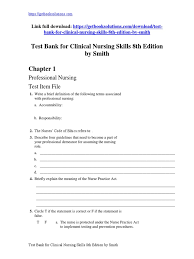 download test bank for clinical nursing skills 8th edition by