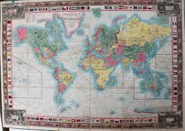 Spine Map Map Of The World On Mercators Projection