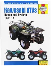 amazon com kawasaki bayou u0026 prairie atv haynes repair manual