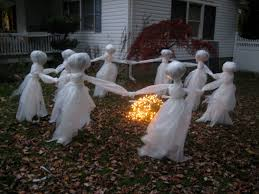 halloween yard decorations lawn ghost re post the pink pixie forest