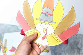 free printable turkey headband ties and bracelets craft