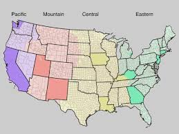 Time Zone Map Of United States longitude position in a time zone and cancer risk in the united
