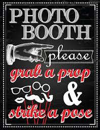 photo booth signs 1 pc photo booth sign grab a prop and strike a pose