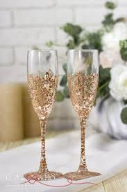 wedding glasses gold wedding glasses personalized chagne flutes gold