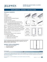 Jeld Wen Sliding Patio Door Jeld Wen Nds002 Premium Quad Panel Sliding Patio Doors User Manual