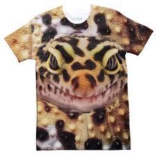 halloween mask leopard gecko gecko face t shirt shelfies