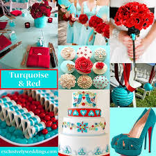 colors that go well with red what color goes with turquoise for a wedding latest style