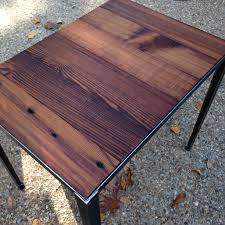 end table with angle iron base and reclaimed wood industrial end table with angle iron base and reclaimed wood