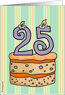 25th birthday cards from greeting card universe