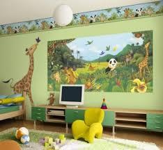 décoration jungle chambre bébé design interieur décoration chambre enfant animaux jungle savane
