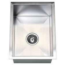 stainless steel zero edge undermount single bowl bar