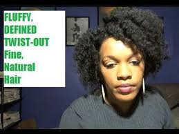 fine african american hair fluffy afro w curls and definition from twist out african