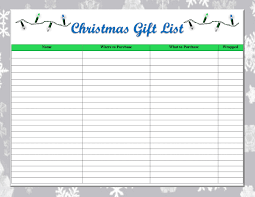 christmas gift list one thrifty space free printable christmas gift list