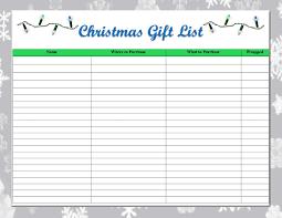 christmas gift list one thrifty space free printable christmas gift list