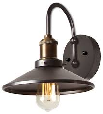 Portfolio Wall Sconce Wilson 1 Light Wall Sconce Vintage Steel Industrial Wall