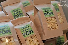 popcorn favor bags a blue and green baby shower simply darr
