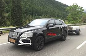 bentley bentayga 2016 2016 bentley bentayga prototype caught towing a trailer spied