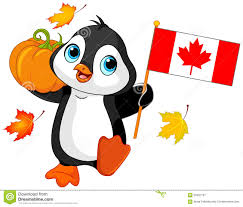 canadian thanksgiving day penguin stock vector image 59497737