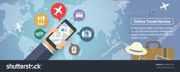 online travel images Mobile online travel service vector banner stock vector 579853195 jpg
