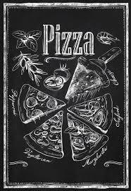 Retro Chalkboards For Kitchen by Kitchen Chalkboard Chalkboard Pizza Types By Timelessmemoryprints