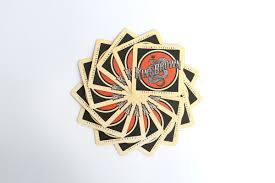 Drink Coasters by Original Pomade Drink Coasters Snake Insignia King Brown Pomade
