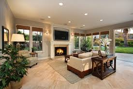 Sherwin Williams On The Rocks Family Room Traditional With - Family room lamps