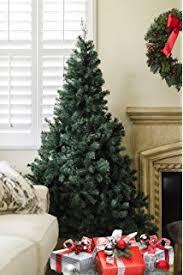 6 foot unlit artificial pine tree with metal