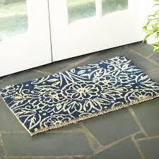 Welcome Doormats Floral Coir Welcome Doormat U0026 Reviews Birch Lane