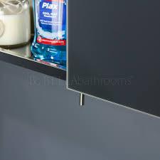 vasari stainless steel bathroom cabinet mirror doors benevola