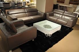 metallic leather modern sofa set