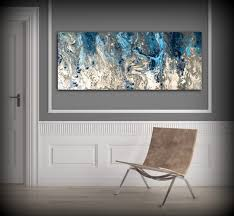 Dark Blue Bedroom Decor Large Abstract Painting Print Navy Blue Print Art Large Canvas