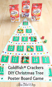 goldfish crackers diy christmas tree poster board game miss