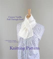 knitting pattern for angora scarf pull through scarf pdf knitting pattern worsted yarn lion brand