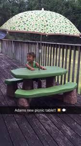 Little Tikes Fold N Store Picnic Table Directions by Step2 Naturally Playful Picnic Table With Umbrella Stone And Wood