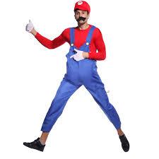 men super mario lugi plumber bros cosplay halloween costume