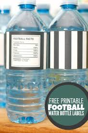 Decorate Water Bottle Big Game Football Party Decorations Free Printables