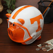 sports themed piggy banks tennessee volunteers home decor of tennessee furniture