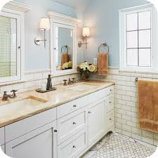bathroom remodel ideas white subway tile in vintage bathroom