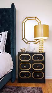 Gold And Black Bedroom by Navy Blue Velvet Tufted Bed With Gold And Black Dorothy Draper