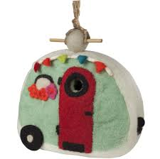 Retro Camper Felt Retro Camper Birdhouse Handmade And Fair Trade The Village