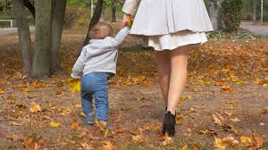 cute baby boy autumn leaves wallpapers 4k footage of cute baby boy holding mothers hand and walking at