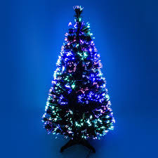 fibre optic colour changing green tree 2ft 3ft