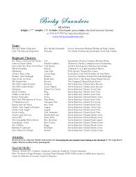 Actors Resumes Examples by Resume Music Resume Examples